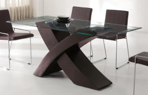 Стол со стеклянной столешницей1