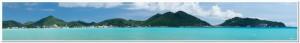 Panorama of Philipsburg Sint Maarten