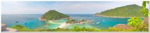 panoramic tropical sea and island