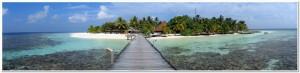 Panorama of tropical island, Maldives