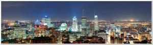 Montreal at dusk panorama