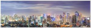 Bangkok downtown Skyline Panorama